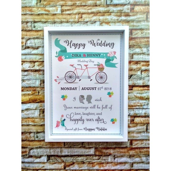 Foto Produk Home Decor Frame Box - Kado Pernikahan - Wedding Gift dari ai_decor