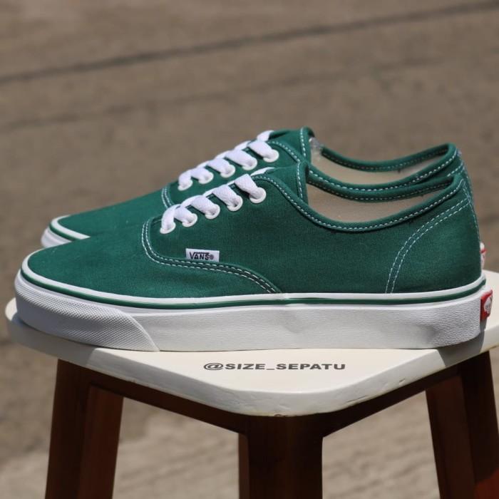 vans authentic dark green