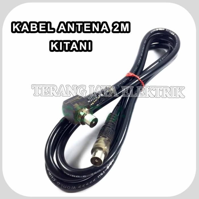 Foto Produk Kabel Antena TV KITANI 2M With Jack TV/Coaxial Cable Male to L Male dari tk terang jaya elektrik
