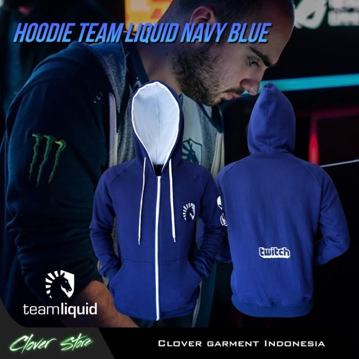 Foto Produk Hoodie Team Liquid Official || Jaket Jumper Miracle Navi Secret Dota - Navy, M dari Clover Garment Indonesia