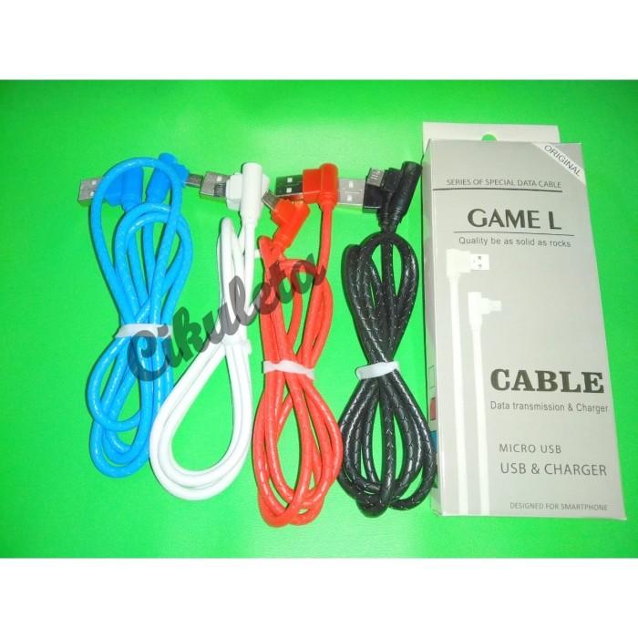 Foto Produk Kabel Data Gaming L 90 Derajat Micro USB dari Cikuleta