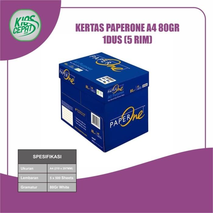 Foto Produk [KHUSUS GOJEK/GRAB] Kertas PaperOne A4 80gr 1DUS = 5 RIM dari KiosCepat
