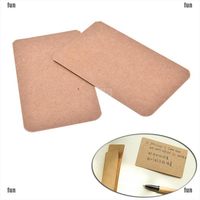 100Pcs Blank Pink Cards Kraft Note Paper Business Cards Vocabulary Word Card Message Card DIY Gift Card Blank Paper Tags(Pink)