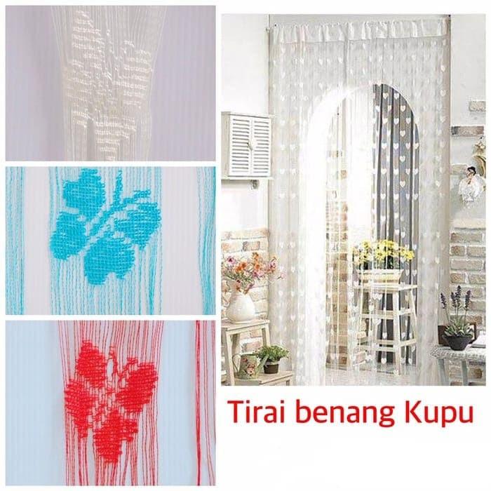 Foto Produk Tirai Benang Motif Kupu-Kupu dari Pusat Grosir Surabaya.