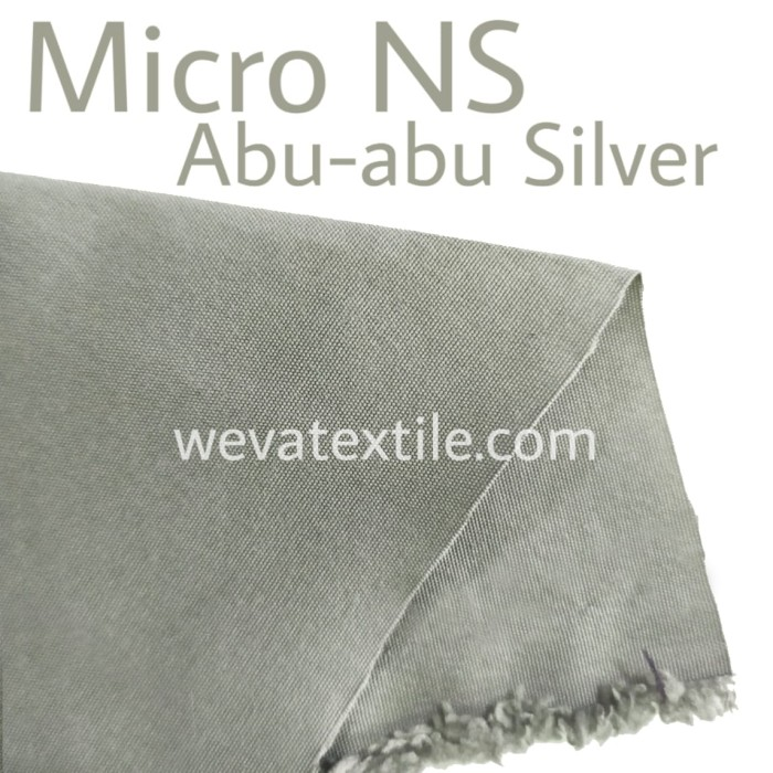 Foto Produk Bahan Kain Jaket Parasut Micro NS Waterproof Abu Abu Silver dari Weva Garment Textile