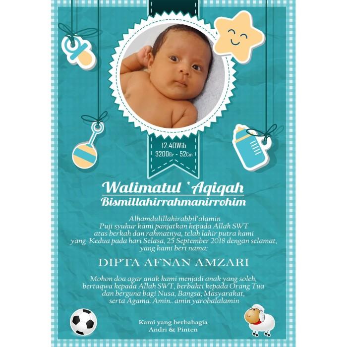 Jual KARTU UCAPAN AQIQAH CUSTOM MURAH - Jakarta Barat ...