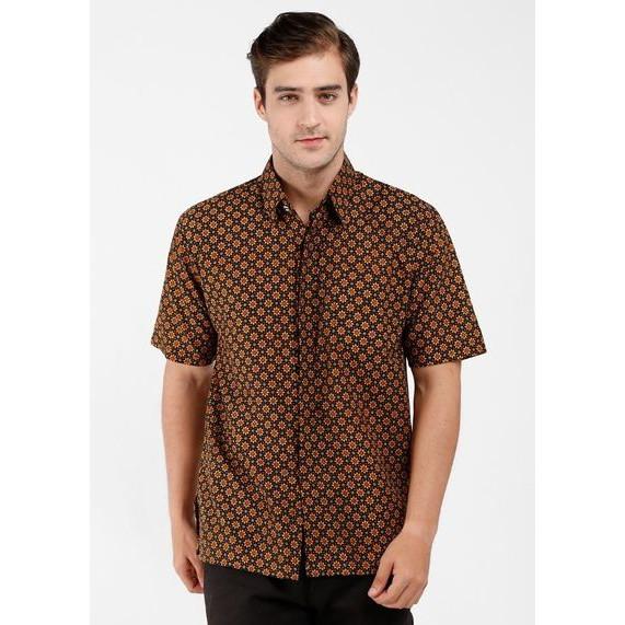 harga Kemeja batik gandiwa lengan pendek - cokelat xl Tokopedia.com