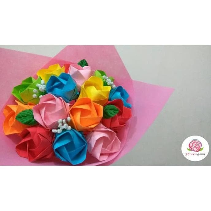 Jual Buket Bunga Mawar Origami Jakarta Barat Cicilia Lentini Store Tokopedia