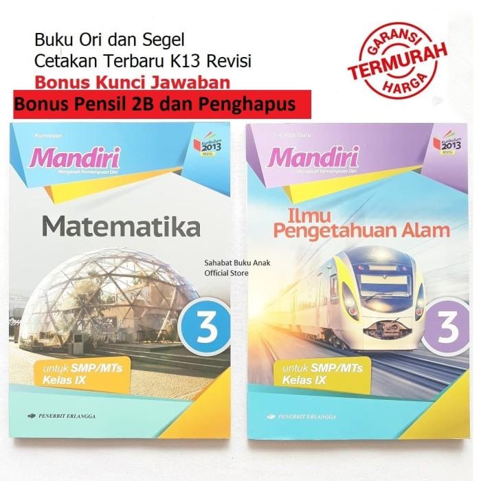 Jual Paket Buku Mandiri Erlangga Kelas 9 Ipa Matematika Kunci Jawaban Kab Tangerang Sahabat Buku Anak Tokopedia