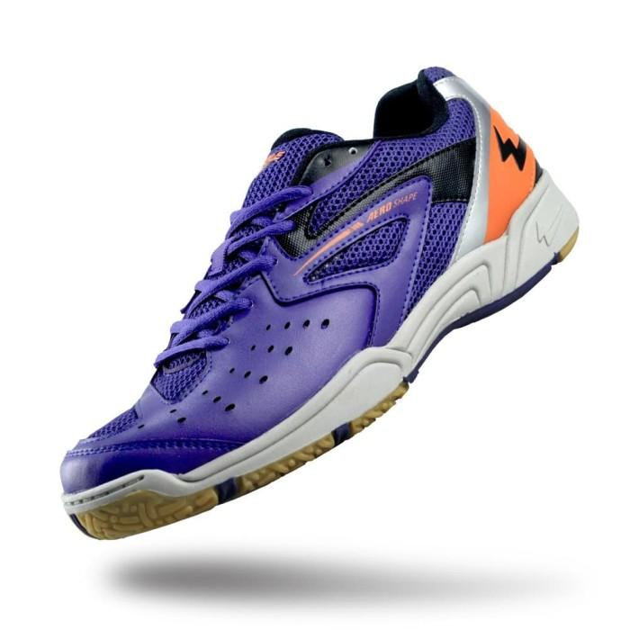 harga Sepatu eagle kevin biru tua oranye – badminton shoes - 41 Tokopedia.com