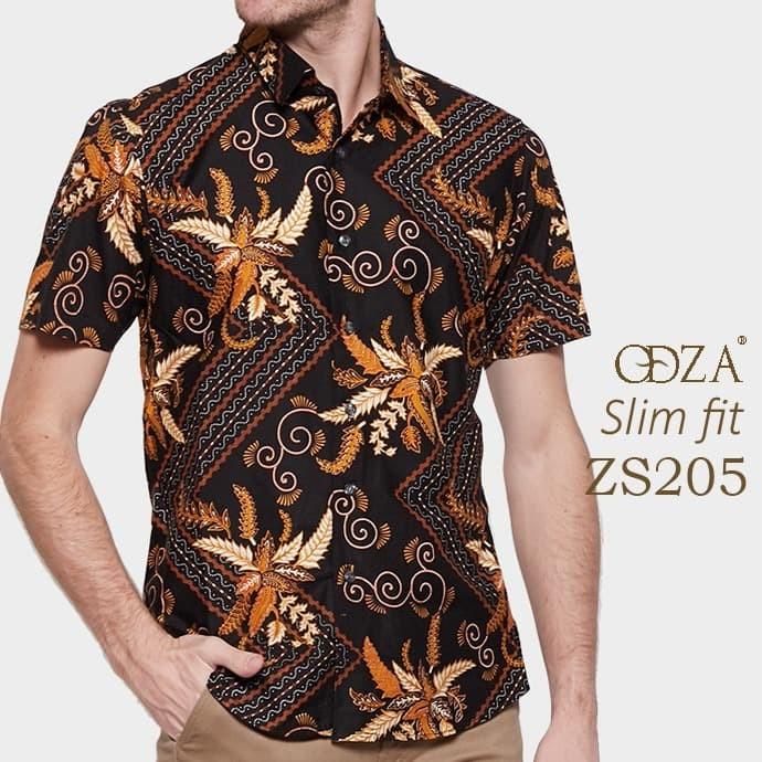 Batik modern / baju slim fit pria / kemeja formal / atasan batik ob416