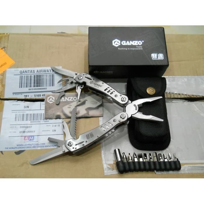 Foto Produk GANZO MULTI TOOLS G301 TOOL 301 not LEATHERMAN VICTORINOX SILVER dari DO OFFICIAL STORE
