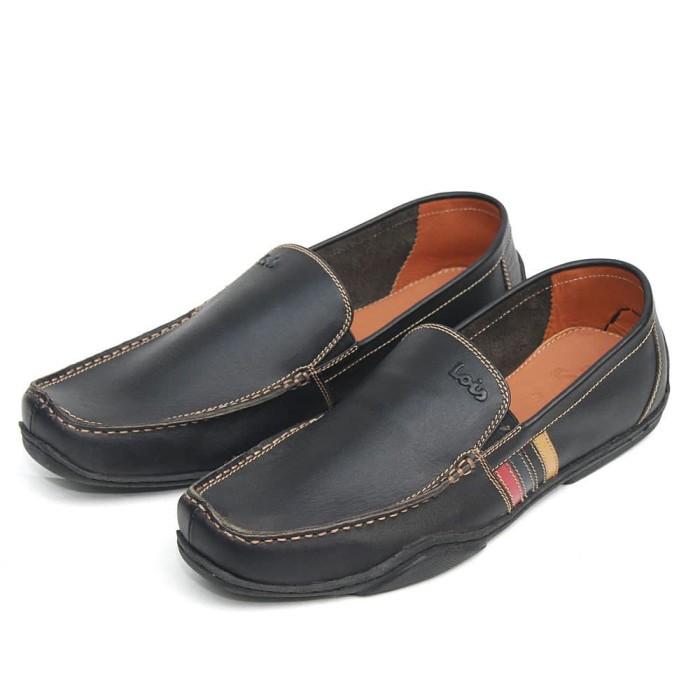 Sepatu kulit asli pria branded lois original lsh421 bl