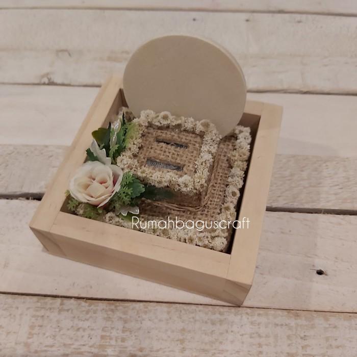 Foto Produk Kotak cincin rustic 10x10x8cm dari Rumahbaguscraft