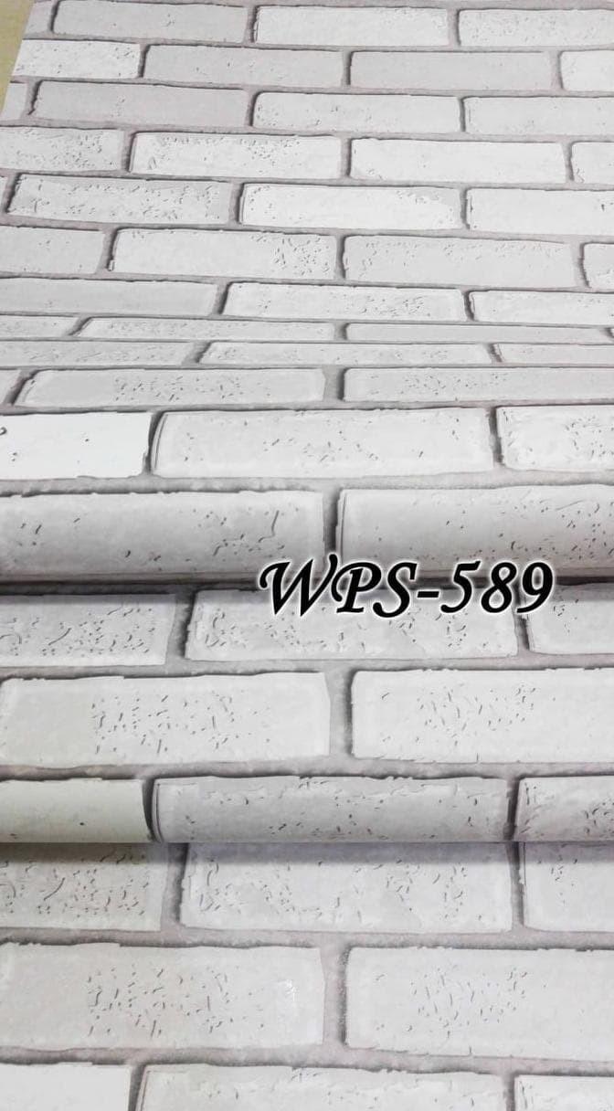 Jual Wps589 Bata Putih 3D Wallpaper Sticker Wal Paper Dinding Kota Tangerang HaidargalihShop