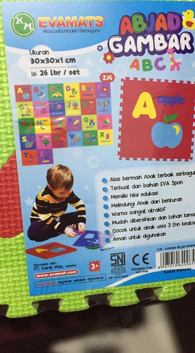 Jual EVA MAT ALFABET Jakarta Selatan Farin Toys