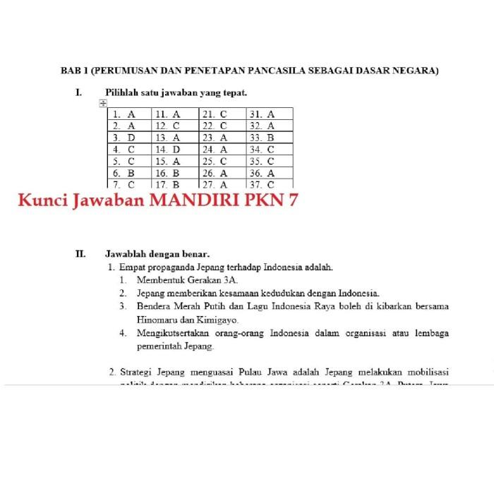 Kunci Jawaban Buku Lks Pkn Kelas 7 Kurikulum 2013