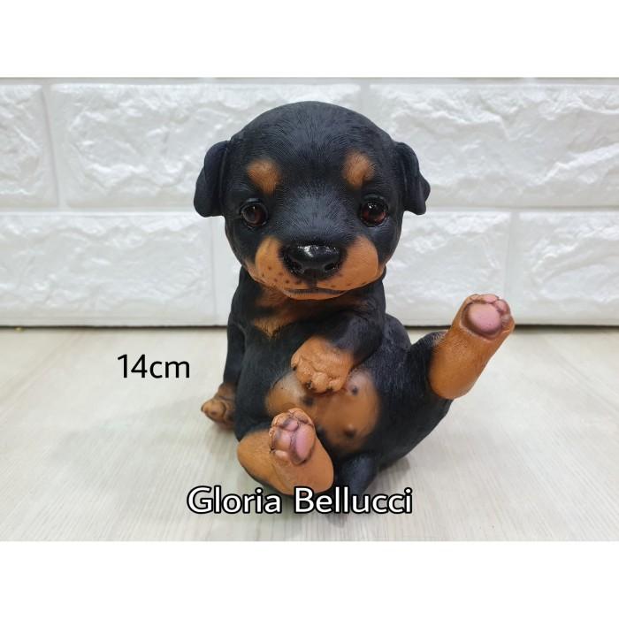 Jual Patung Pajangan Anak Anjing Rott Rottweiler Jakarta Utara Gloria Bellucci Tokopedia
