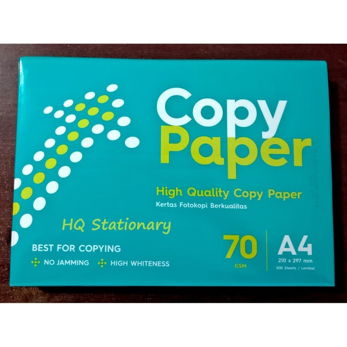 Foto Produk Kertas HVS A4 70 gram Copypaper 1 rim dari HQ Stationary and Toys