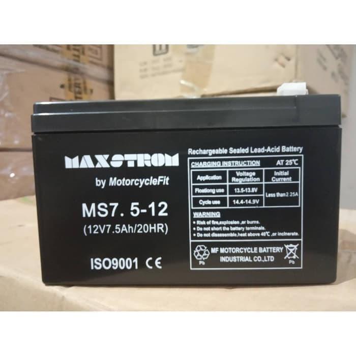 harga Aki baterai kering vrla 12v 7.5ah mf ups emergency mainan selis dll Tokopedia.com