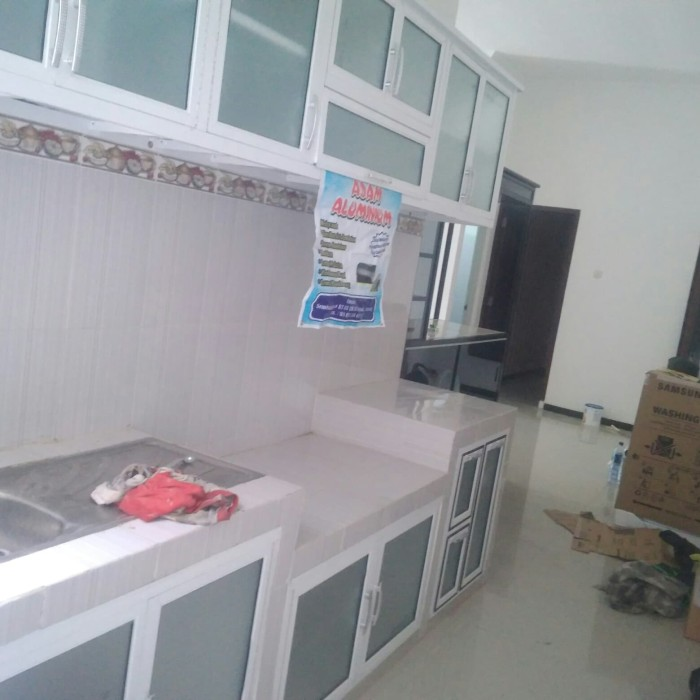 Jual Dapur Aluminium Kitchen Set Minimalis Ungu Kota Semarang