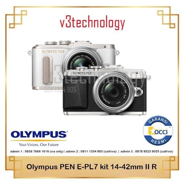 harga Olympus pen e-pl7 mirrorless with 14-42mm f/3.5-5.6 ii r lens Tokopedia.com