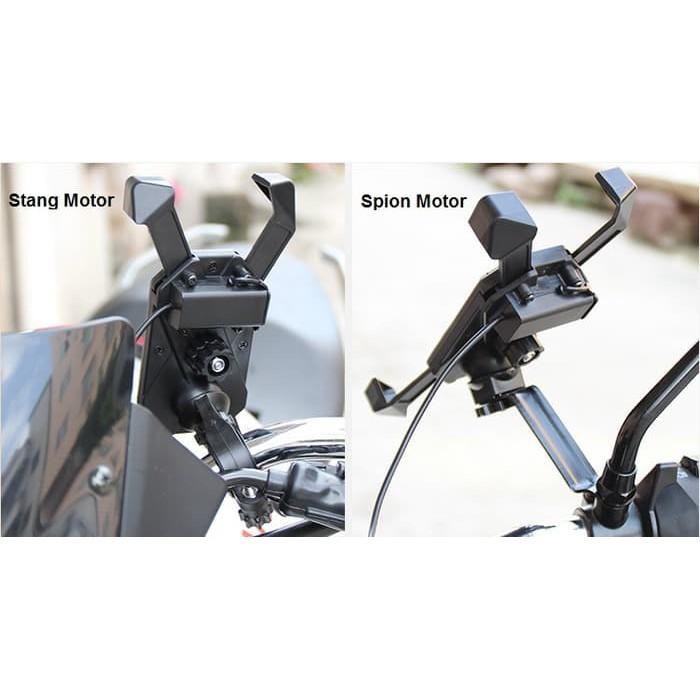 harga Holder charger jadi 1 motor anti air braket stang chasan dudukan hp Tokopedia.com