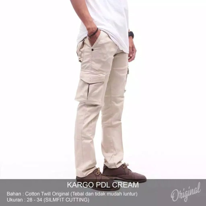 harga Celana cargo panjang pria kargo pdl warna abu hitam hijau cream krem Tokopedia.com