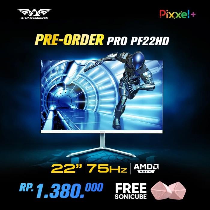 harga Armaggeddon gaming monitor pixxel+ pro pf22hd 22  ahva panel - hitam Tokopedia.com