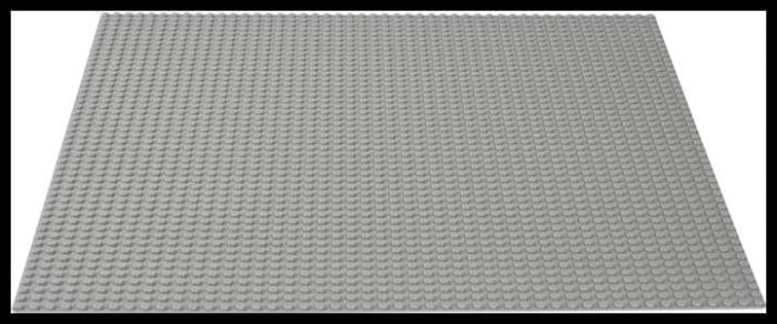 00507 LEGO Baseplate 8 x 16 light gray