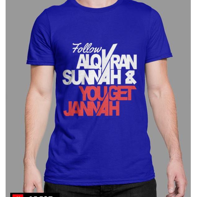 Foto Produk Kaos Dakwah Lengan Pendek Follow Sunnah dari akbar-alfarizi-shop