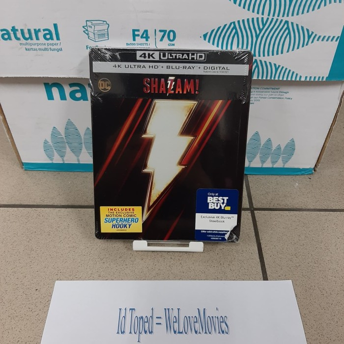 Jual Blu Ray Shazam 4k Ultra Hd Steelbook Best Buy Usa Kota Medan Welovemovies Tokopedia