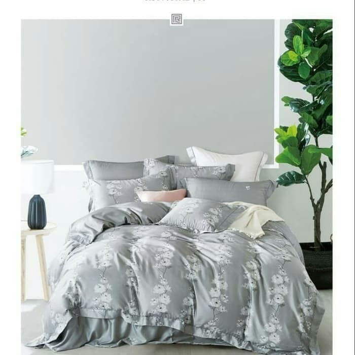 Foto Produk Bed Cover Set Sprei Sutra Tencel Motif Super King Size Number One dari travisia