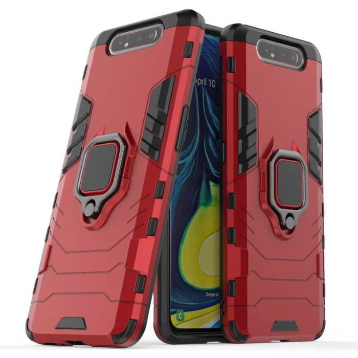Foto Produk Samsung A80 Black Panther Slim Standing Ring Armor Case Shockproof dari Megascarlet