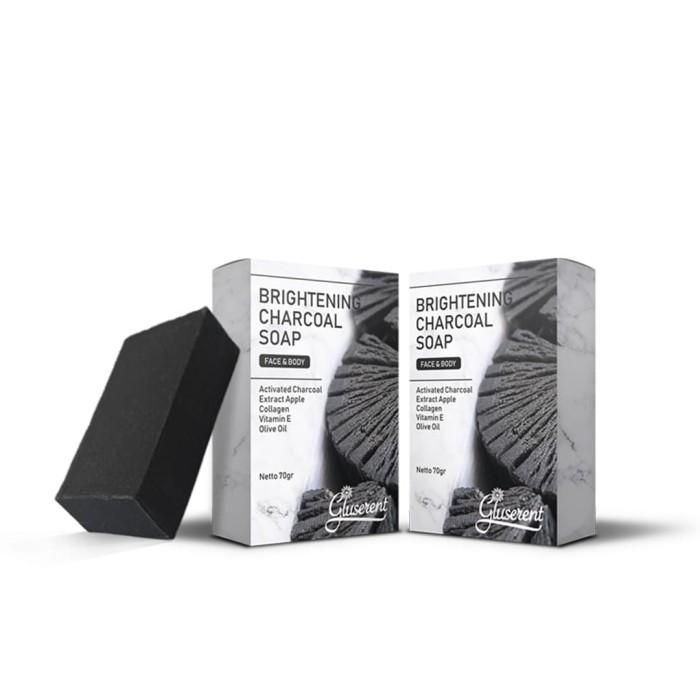Foto Produk Gluseren Brightening Charcoal Soap Sabunpemutihwajah dan Badan dari April Beauty Store