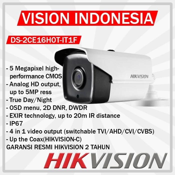 harga Camera hd hikvision 5mp ds-2ce16h0t-it1f Tokopedia.com