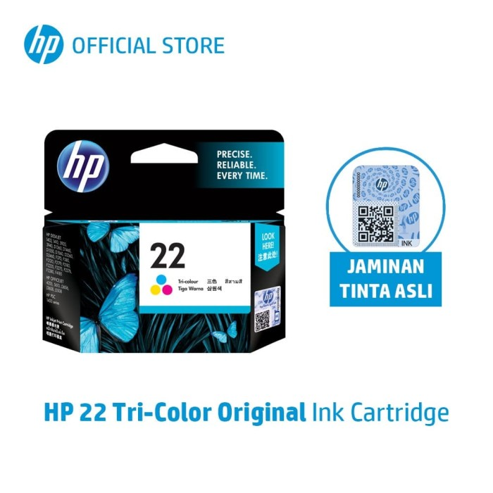 Hp 22 tri-color original ink cartridge (c9352aa)