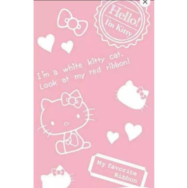 Jual Big Sale 9 9 Wallpaper Sticker Hello Kitty New Soft Pink