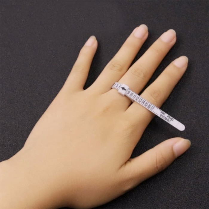 Foto Produk US Alat Test Ukur Pengukur Ukuran Jari Cincin Kawin Wedding Ring Gauge dari Silverior