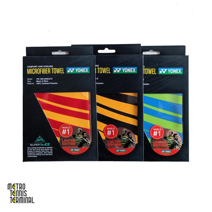 harga Yonex microfiber towel ( handuk lap badminton ) - red yellow Tokopedia.com