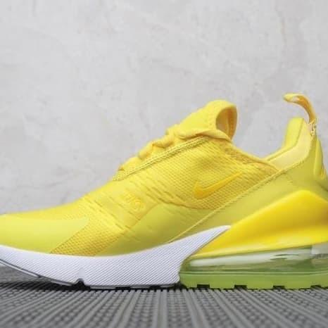 Jual sepatu sneakers running nike air max 270 bright yellow mango cewek DKI Jakarta Kang Kabayan | Tokopedia