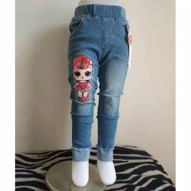 Jual Celana Jeans LOL Anak Pink 10-11 tahun Celana Panjang