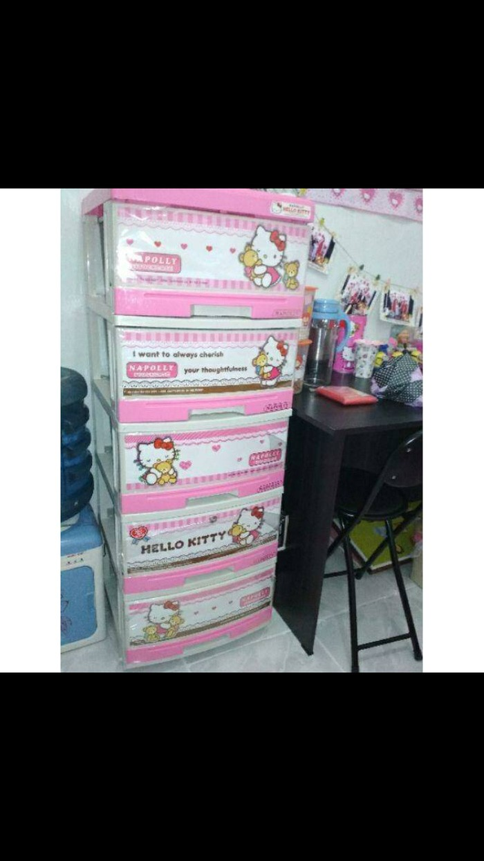 Jual Lemari Plastik Hello Kitty 5 Susun Produk Unggulan Jakarta Barat Taurina Hoam