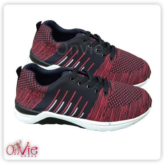 Foto Produk Onvie Sepatu Sneakers Pria Wanita AIR MAX - Hitam Maroon, 39 dari onVie Shoes