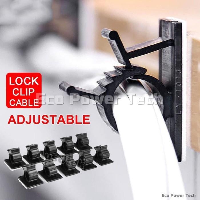 Foto Produk Klip Tali Pengikat Kabel Bisa Disesuaikan Adjustable Cable Clips B dari Eco Power Tech