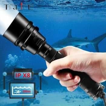60000 Lm LED Diving Headlamp Flashlight Headlight Torch Light Underwater 500 JL