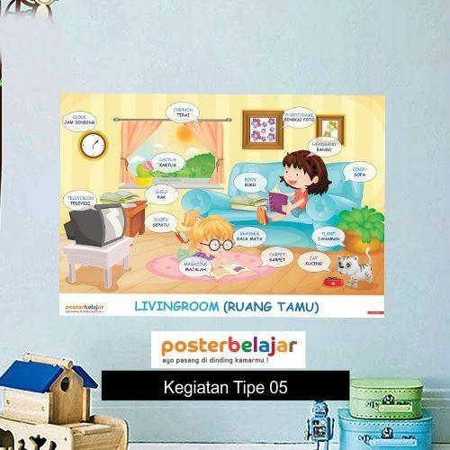 Jual Tipe 05 Poster Belajar Seri Kegiatan Tema Di Ruang Tamu