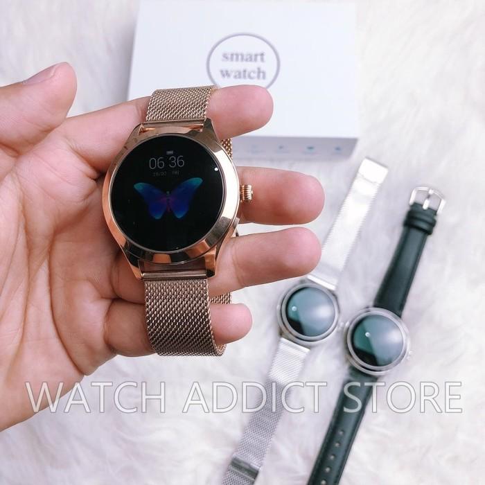 harga Kw10 smart watch women ip68 waterproof heart rate monitor bluetooth Tokopedia.com