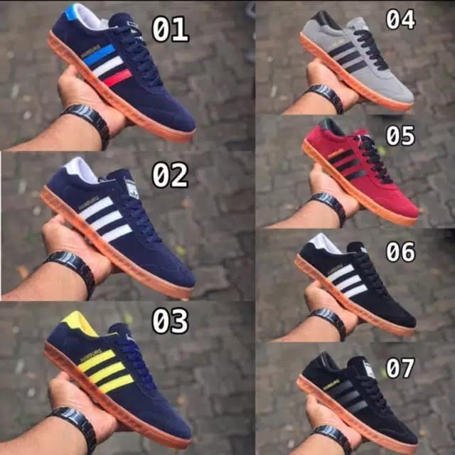 Foto Produk Sepatu Adidas Casual Hamburg / sepatu Casual / Adidas Hamburg - Biru dari oneWstore