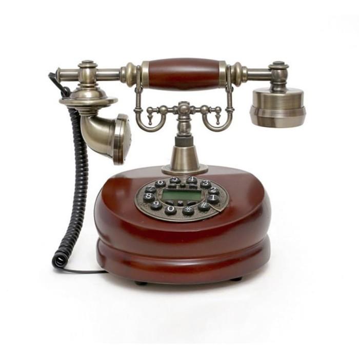 harga Telepon rumah kabel model klasik kayu telp antik cocok u/kado hadiah Tokopedia.com